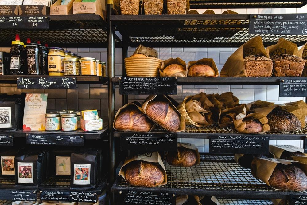 baked bread on rack