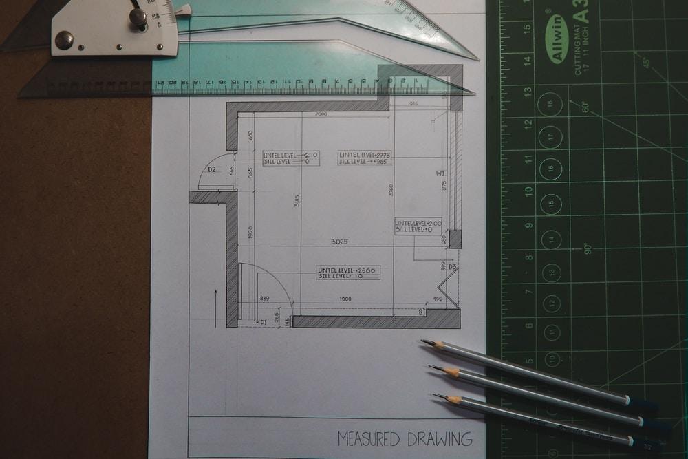 white printer paper with black pencil